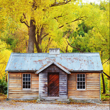 Arrowtown Hut central otago new zealand autumn ©michelenewman