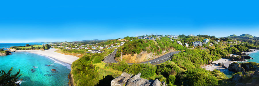 Photo of Brighton and Saddle Hill panorama, Dunedin, New Zealand