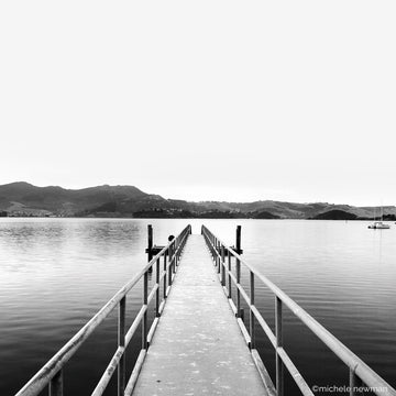 photo broad bay jetty otago harbour peninsula dunedin new zealand