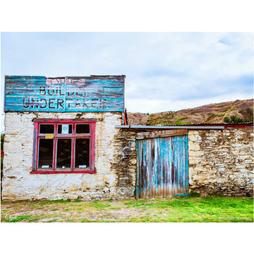 photo of old clyde undertakers building in Clyde, Central Otago, New Zealand