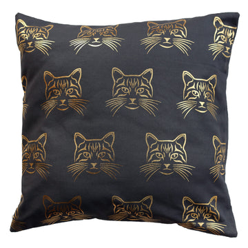 Cushion cover - Gold Cats