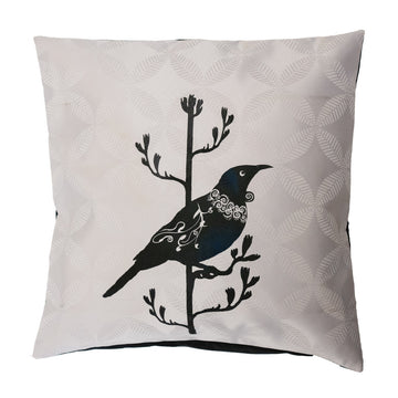 cushion cover tui native bird design, new zealand