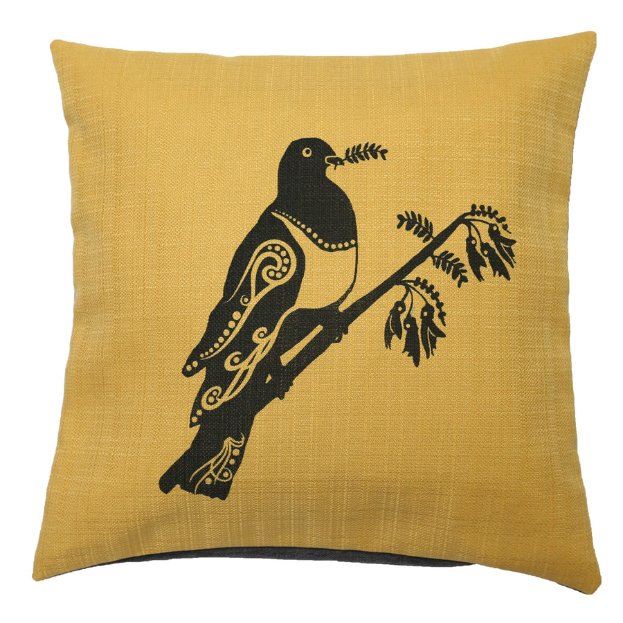 cushion cover kereru wood pigeon linen hand painted starfish photos