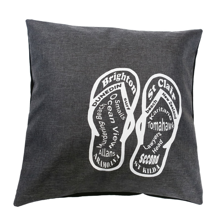 cushion cover dunedin surf beaches jandals