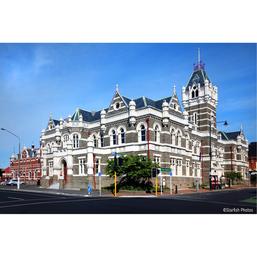 dunedin city court house street view, dunedin, new zealand, by michele newman photographer, ©starfish photos