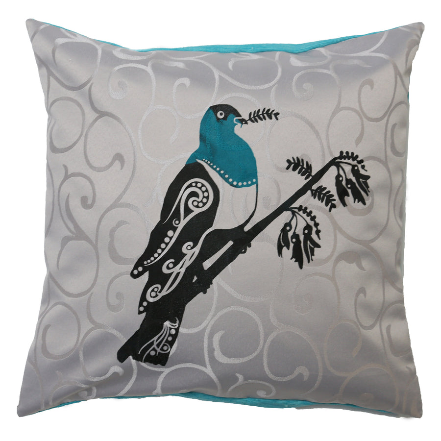 cushion cover kereru wood pigeon grey swirl starfish photos