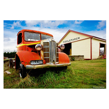 photo austin truck middlemarch railway station otago new zealand