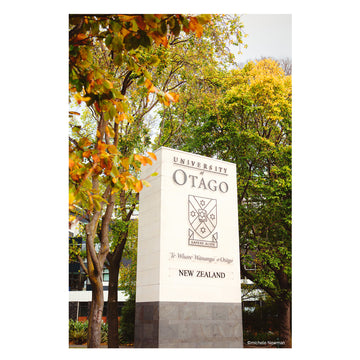photo otago university main oamaru stone sign dunedin new zealand