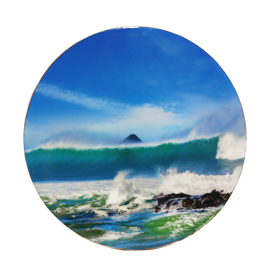 wall dot resin round surf wave brighton, dunedin, new zealand