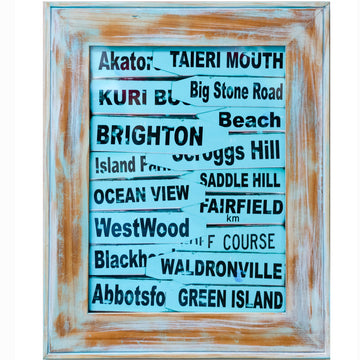 limited edition framed fine art photo south coast road sign dunedin new zealand michele newman photographer starfish Photos