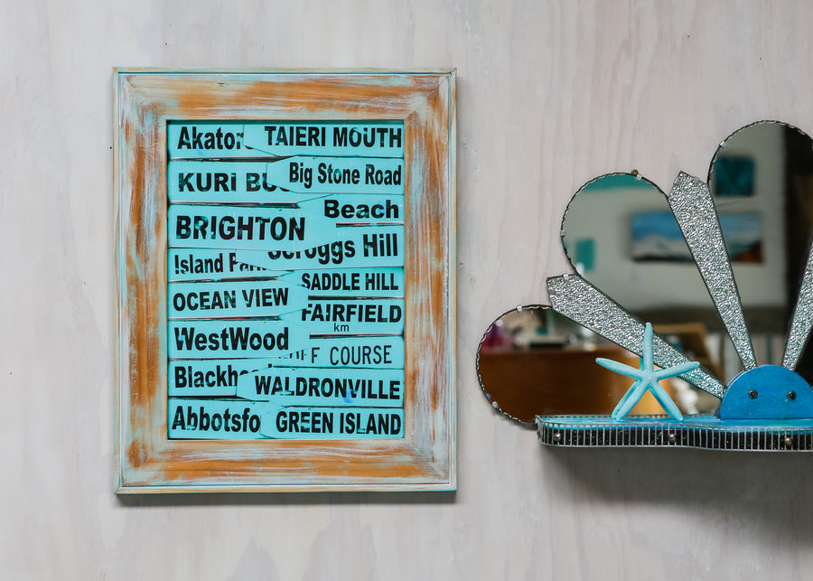 Limited Edition - Framed photo South Coast Road signs