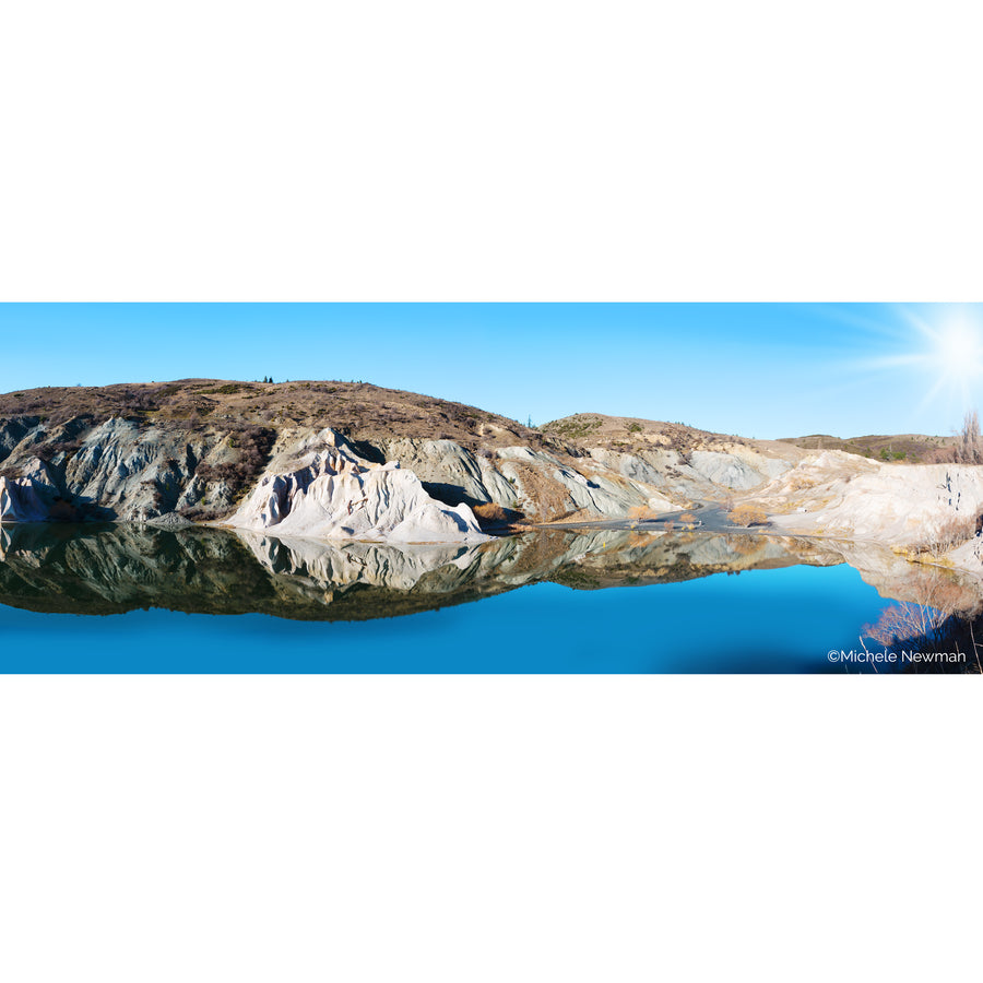 photo blue lake st bathans reflection st bathans central otago new zealand