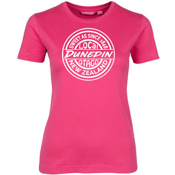t shirt sweet as dunedin otago new zealand womens ladies teeshirt hot pink womens short sleeve