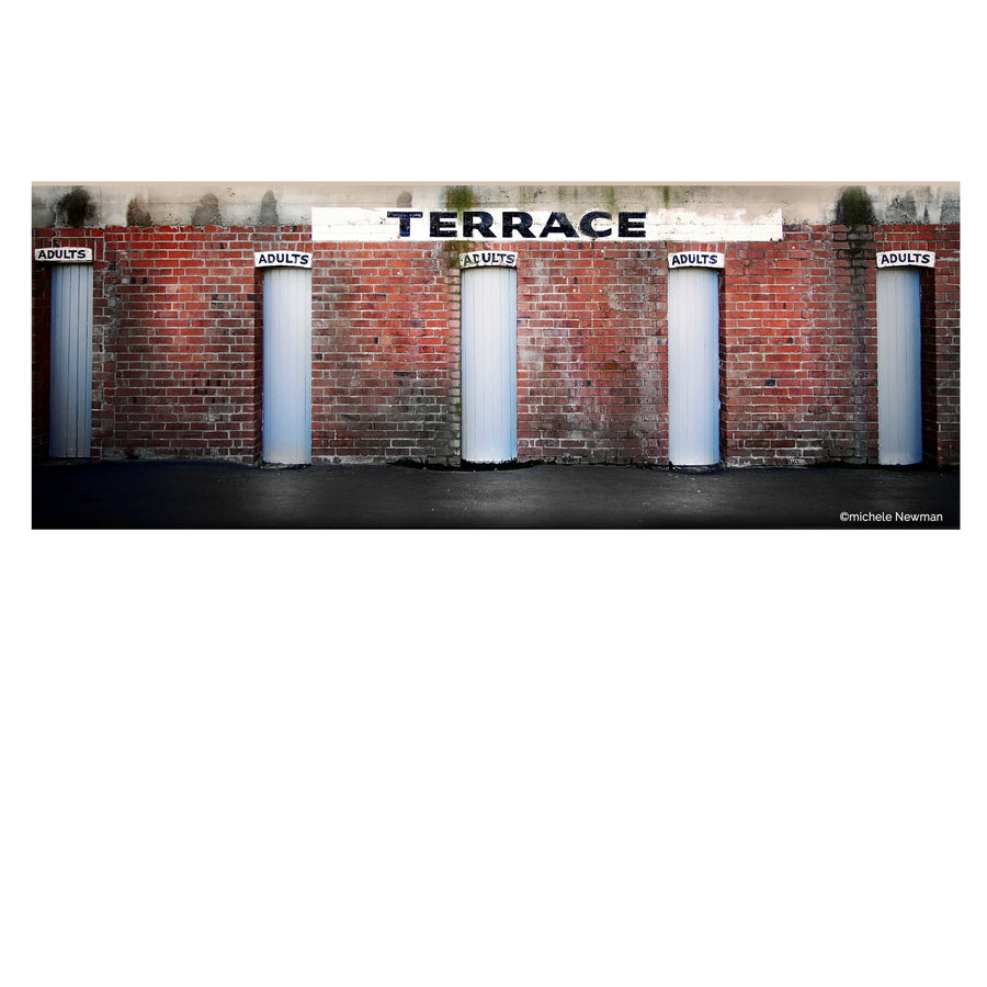 photo of the terrace turn style entrance gates at Carisbrook, Dunedin, new Zealand, otago rugby