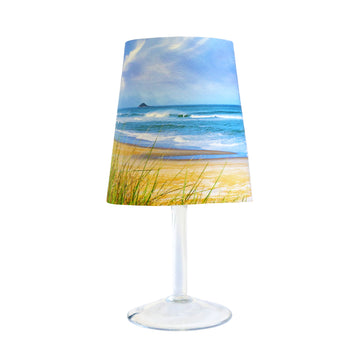Brighton Back Beach - Wine glass lamp cover