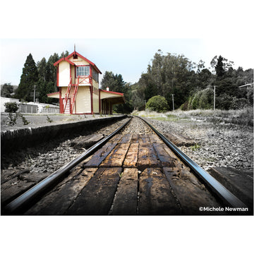 photo wingatui railway station railway tracks dunedin new zealand