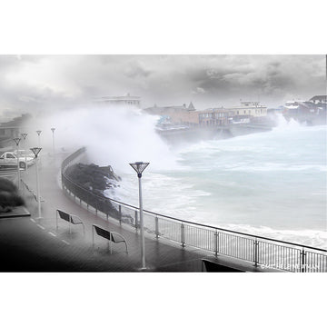 st clair esplanade storm wave beach dunedin new zealand