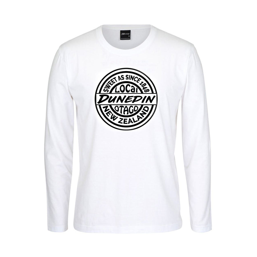 t shirt sweet as dunedin otago new zealand white long sleeve