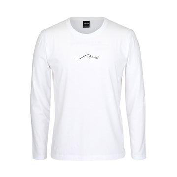 brighton local long sleeve white t shirt, dunedin, new zealand teeshirt