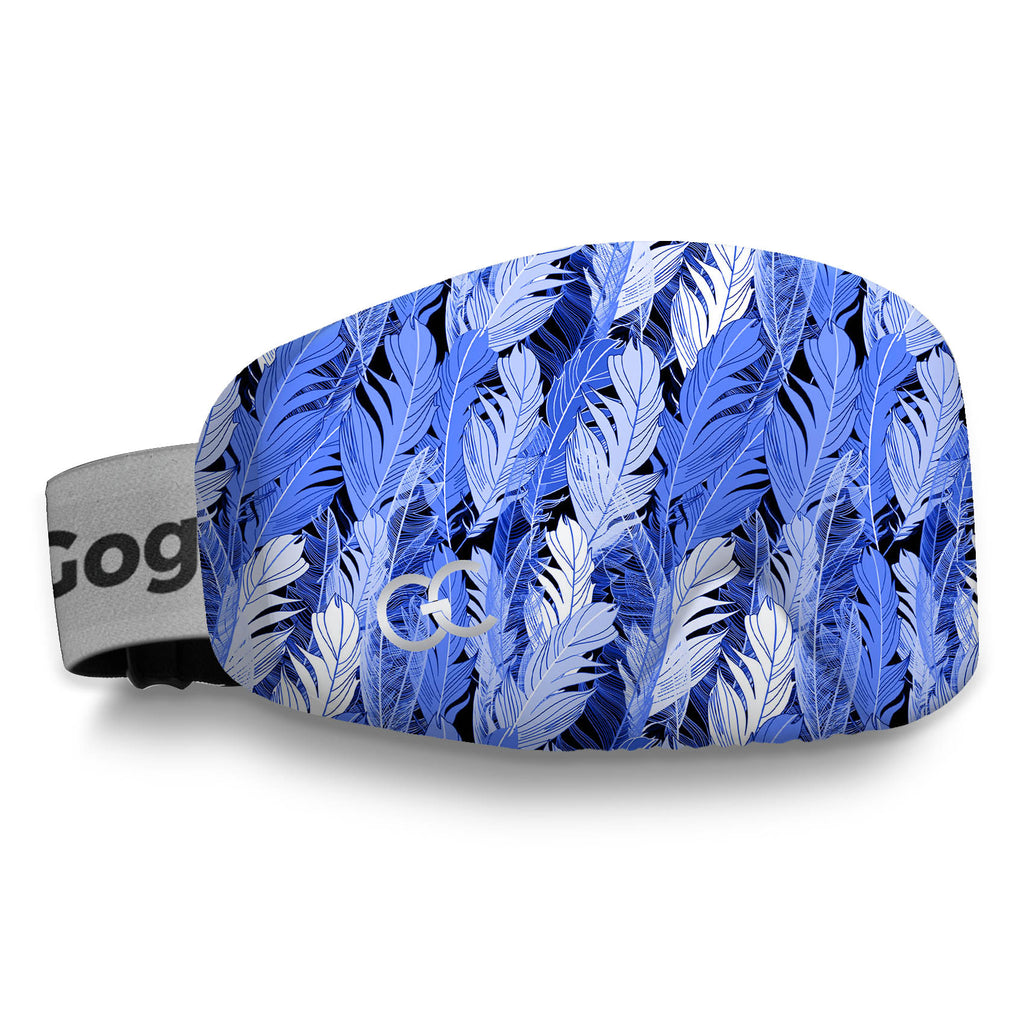 Blue Feathers Protective Goggles Cover