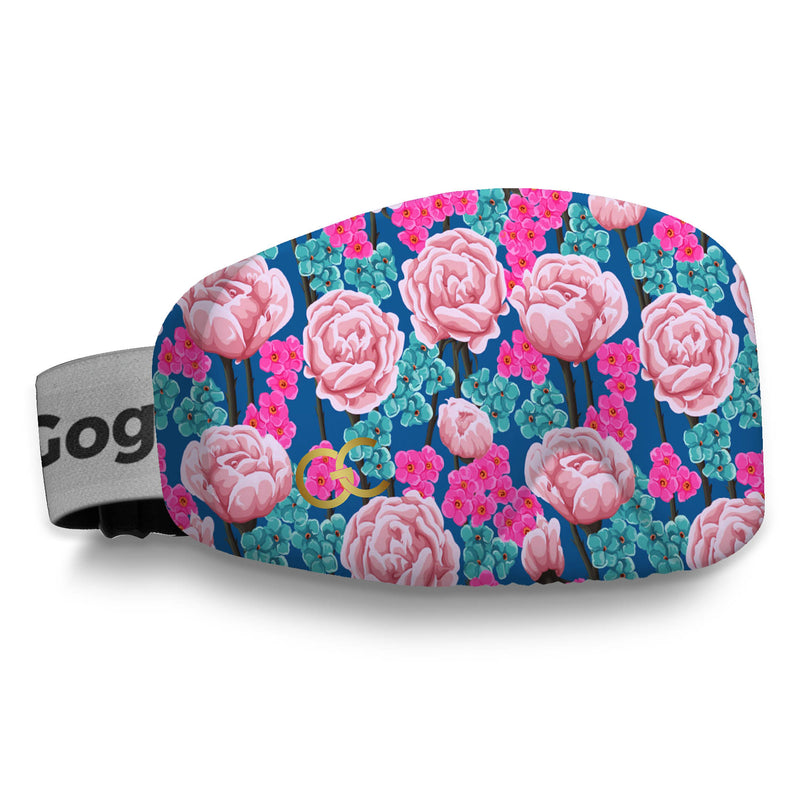 Pink Blue Flowers Goggles Cover