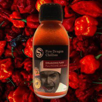 Fire Dragon Chillies Dragons Fury Hot Sauce 125ml