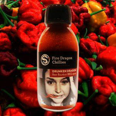 Fire Dragon Chillies Drunken Dragon BBQ Chilli Sauce 125ml