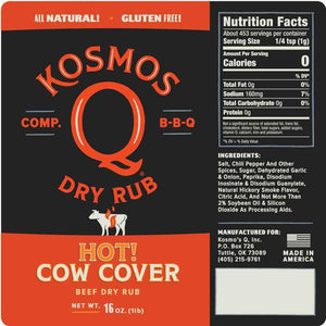 Kosmo's Q - Cow Cover Hot BBQ Rub