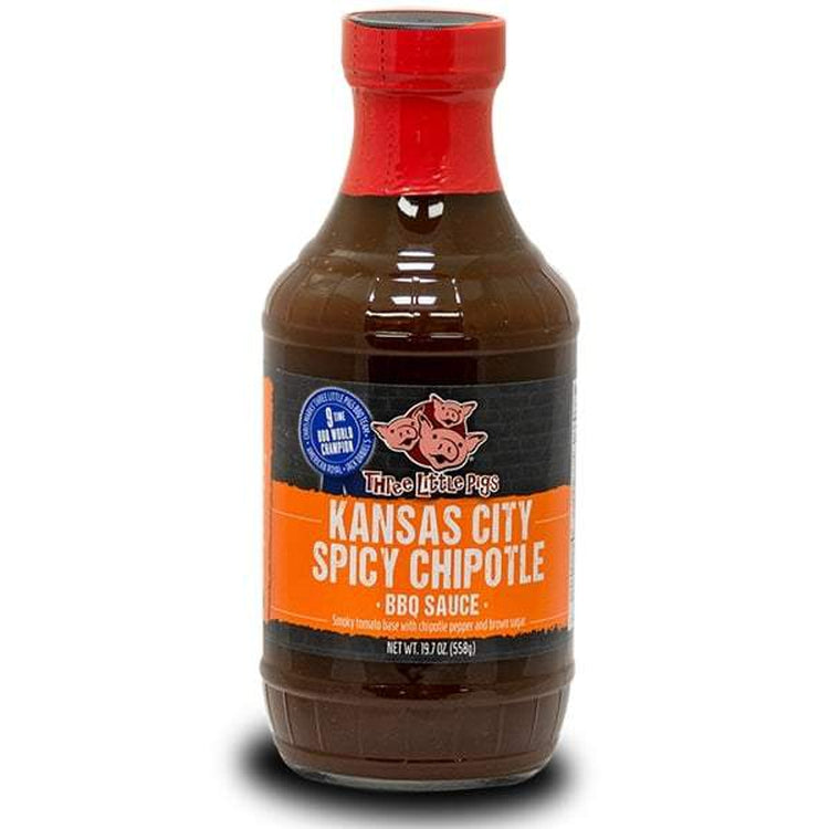 Three Little Pigs Spicy Chipotle BBQ Sauce