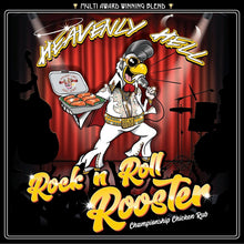 Load image into Gallery viewer, Heavenly Hell Rock N Roll Rooster (Championship Chicken Rub)
