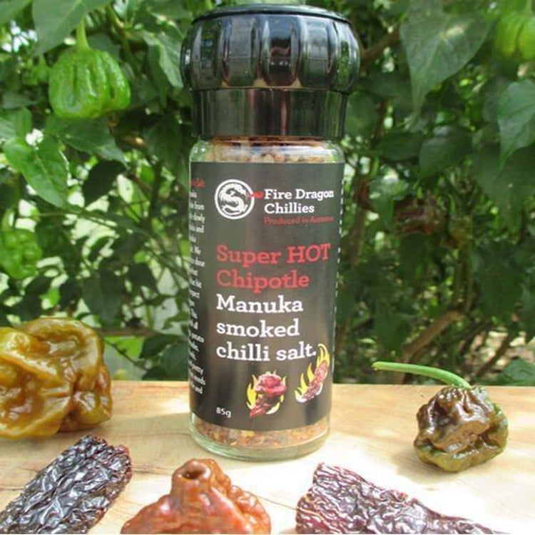 Fire Dragon Chillies Superhot Chipotle Chilli Salt 100g