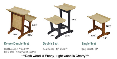 Feline Furniture Double Seat Perch - Cherry
