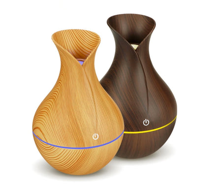 Ultrasonic Wood Grain Aroma Oil Diffuser