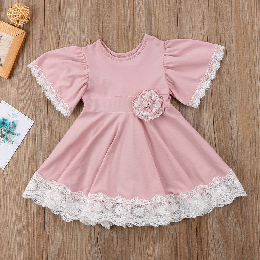 Bella Pink Lace Dress