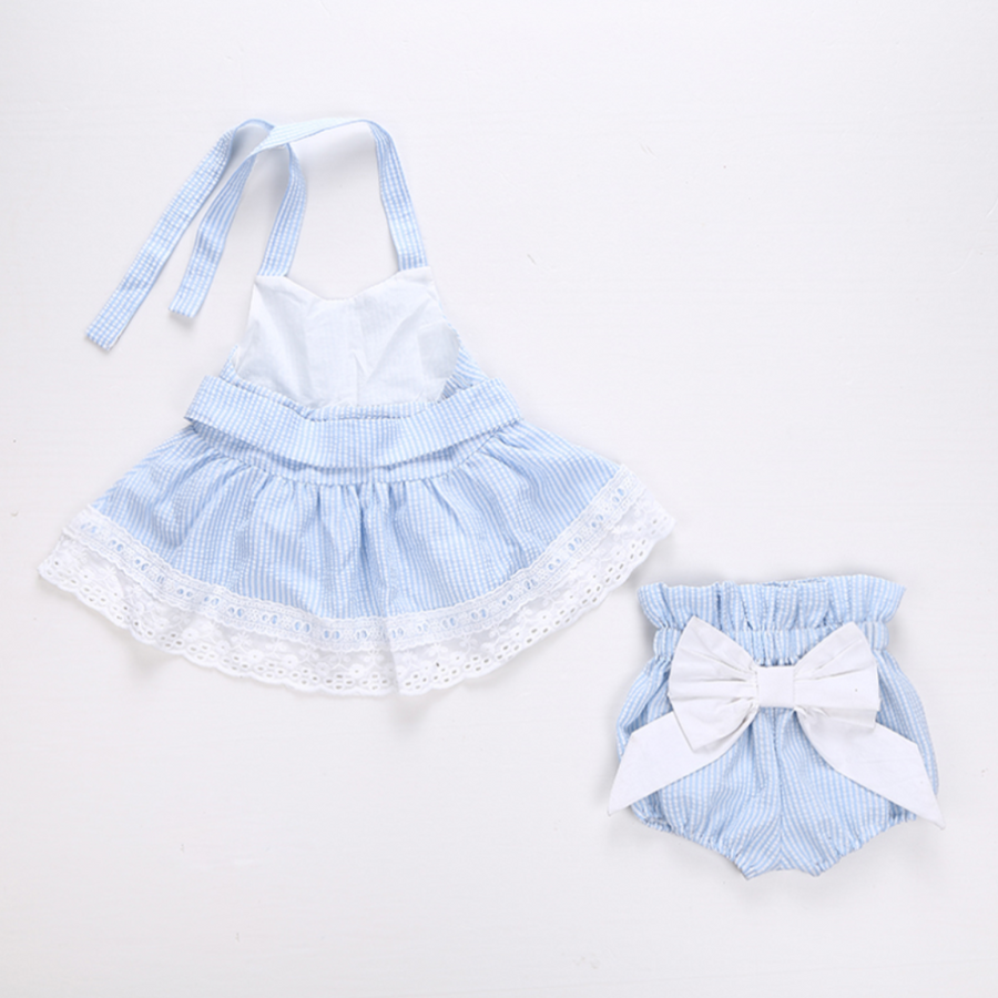 Elle Bowknot Stripe Set