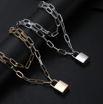 Double Layer Padlock Necklace