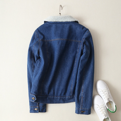Denim Lambswool Coat
