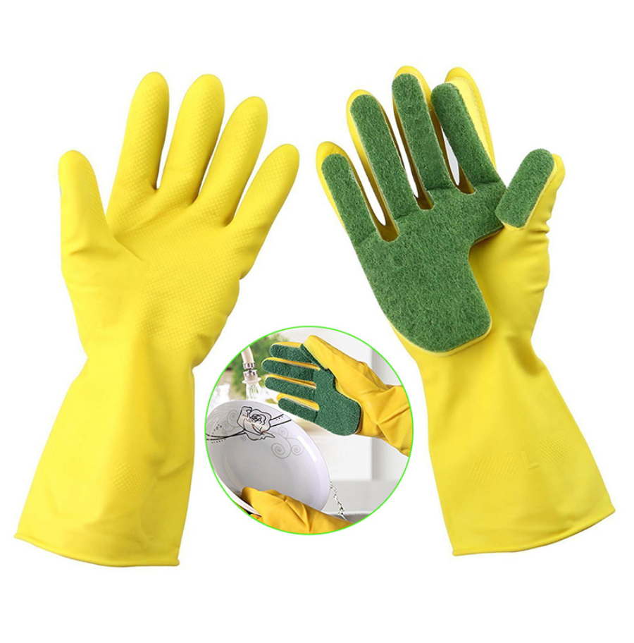Dishwashing Gloves with Sponge