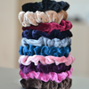 Ten Velvet Scrunchies