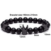 Black Titanium Steel Metal Bracelet