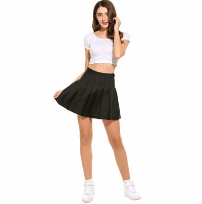 Black Pleated Skirt