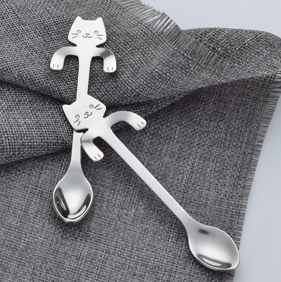 Stainless Steel Cat Handle Spoon