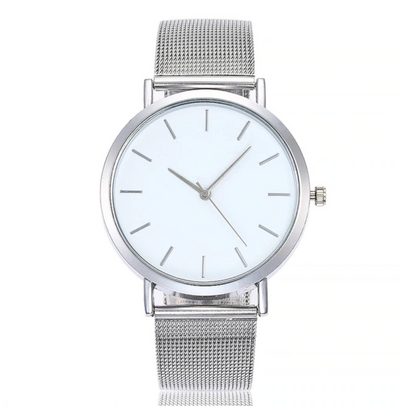 Classic Quartz Stainless Steel Wrist Watch