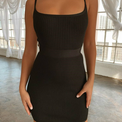 Bandage Hollow Party Dress