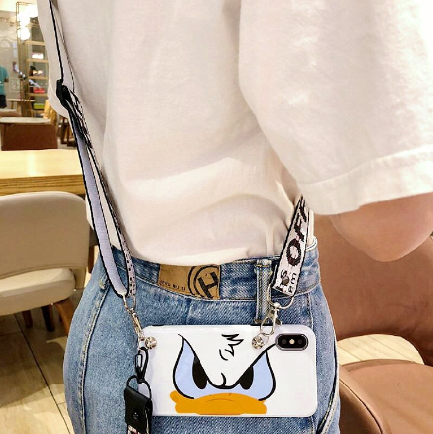 Donald Duck Lanyard Crossbody Phone Case