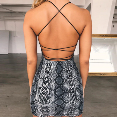 Snakeskin Mini Dress