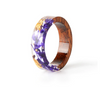 Handmade Wood Resin Ring Flower