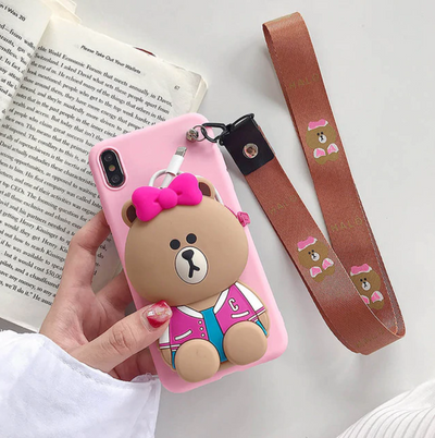 Cartoon Characters Wallet Phone Case
