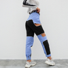 High Waisted Patchwork Pants