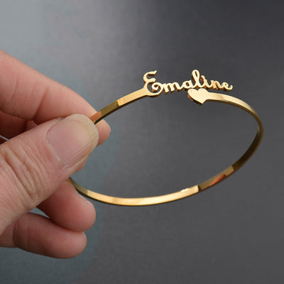 Personalized Cuff Bangle Bracelet